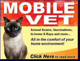 Mobile Veterinary - pet care in the comfort of your home!